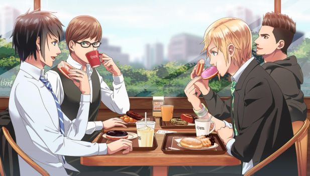 At Donuts Shop by Hinoe-0