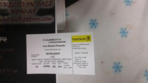 concert ticket on the project by trapmasterC2
