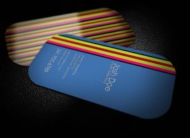 Awesome Round Business card by graphcoder