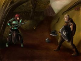 Skyrim Showdown by DovahLi