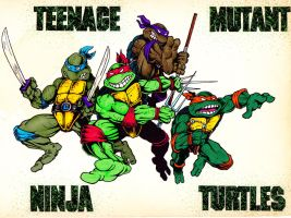 Teenage mutant ninja turtles by Real-Warner