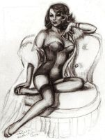 pin up sketch by beckhanson