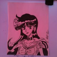 Inktober 20- Sailor Pluto by Lance-Danger