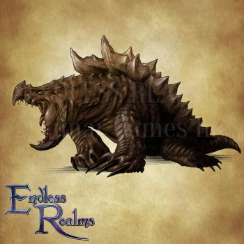 Endless Realms bestiary - Terrorpin by jocarra