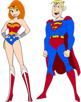 Kim and Ron as a Super Couple by darthraner83