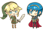 Chibi Link and Marth by Imouto-Thi