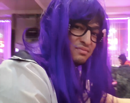 Filthy Frank Purple Wig by twistedwhiskercat