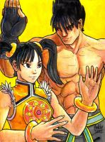 Sketchcard PXZ Jin and Ling by fedde