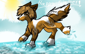 Happy summer! by Aguawolf