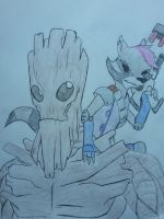 Shocket and Groot by Zigwolf