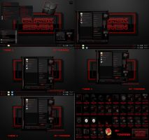 windows 7 theme black seven (red) by tono3022