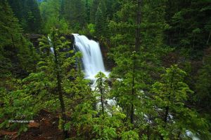 Rocky Mountain Waterfall by TRBPhotographyLLC
