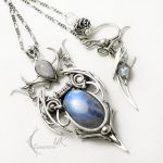 UNTHRIEEL silver , moonstone and topaz by LUNARIEEN
