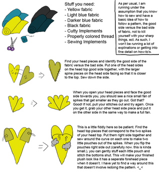 Joltic Plushie Tutorial 1 of 3 by Aemi