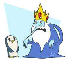 Ice King and Gunter by SrPelo