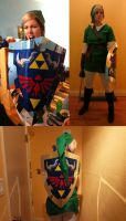 Link with Hylian Shield by nicktheartisticfreak