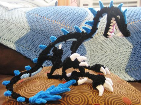 Pipe Cleaner Black Dragon by DarkSaberCat