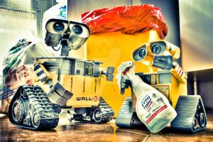 Wall-E and S-on by Lu1-g