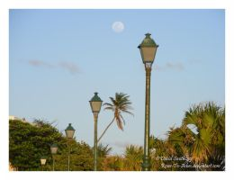 Full Moon San Juan Puerto Rico by Roses-to-Ashes