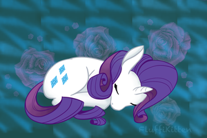 SleepyRarity by fluffikitten