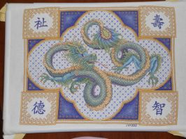 Celestial Dragon Finished by Joce-in-Stitches