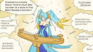 "Sona Winning ""Best Boobs Contest 2012"" by Lazuul"