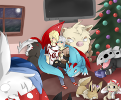 Cuddly Christmas! by ZiiaChan