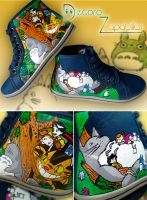Totoro shoes by Raw-J