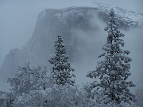 Mist, Snow and Granite by G-Go
