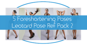 Foreshortening Poses - Leotard Reference Pack 2 by charligal-stock