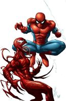 Spidey Carnage Colors by RudyVasquez
