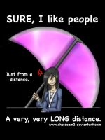 Sure, I like people... T-shirt Design by Chelseam2