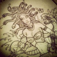 Medusa Design pin up by Frosttattoo