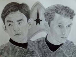 Sulu n Chekov Star Trek Reboot by clamia