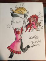 Happy Thanksgiving quick by RaverDragon