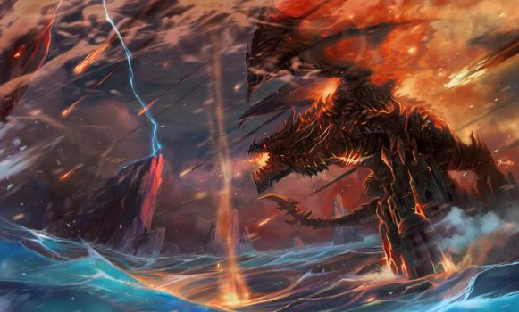 storm of flame and death by breath-art
