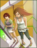 In the Elevator by ellessis