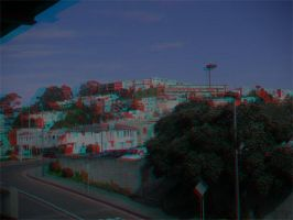 Daly City Anaglyph by frostdemn