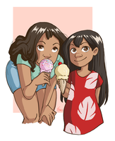 Lilo and Nani by AndLatitude