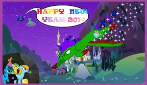 HAPPY NEW YEAR 2014 by PinkysunTransformice