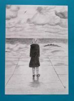 Kirsten and the sea by Feuerlilie