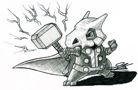 The Mighty Cubone by The-Great-Geraldo