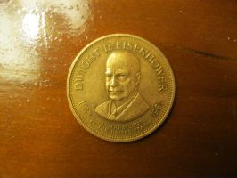 Dwight D. Eisenhower Coin by AnthonyColeRuth