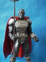 Custom 12 inch Steel Figure close up by cusT0M