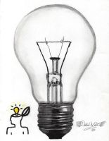 Light Bulb Idea by Mehdiunkut