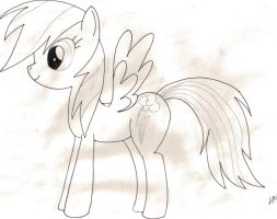 First drawing of Rainbow Dash by Lan-X