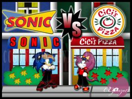 Sonic VS Cici's Pizza by CCgonzo12