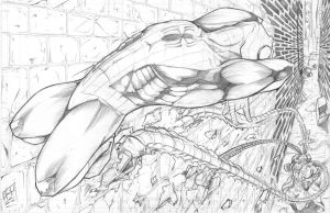 Spiderman Alleyway - Pencil by TheEndofOurLives