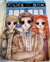 The Doctor, Amy and Rory by gingerpond