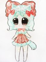 :AT: Kitten Cherry Mint by Napi-Piponpon